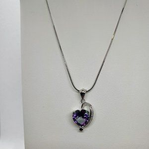 Jewelry - Mystic Topaz Heart Pendant on 18in SS Chain